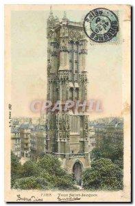 Old Postcard Paris Tour Saint Jacques