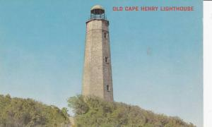 Old Cape Henry Lighthouse, 1st Government Lighthouse in America, Virginia Bea...