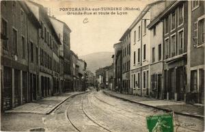 CPA Pontcharra sur Turdine - Grand Rue et route de Lyon (572525)