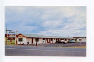 Show Low AZ Motel Old Cars Postcard