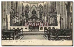 Old Postcard Avranches Notre Dame Choir