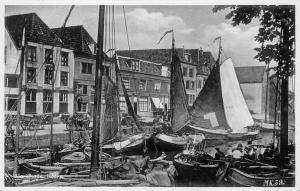 Netherlands, Holland, Marktkade Hoorn, port, boats, harbour, carriages, carts