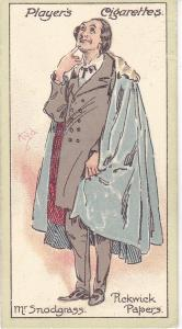 Cigarette Cards Players Characters From Dickens No 10 Mr. Snodgrass