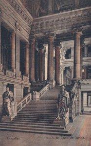 BUXELLES, Belgium, 1900-1910s; Escalier du Palais De Justice