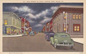 Virginia Salem Main Street At Night Looking West