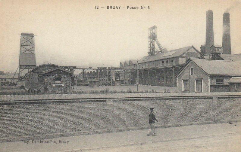 BRUAY , France, 1900-1910´s ; Le Boulevard de l'EsplandeFosse No 5