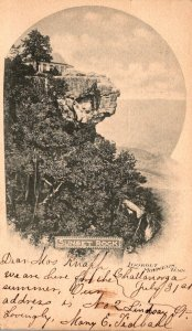 Tennessee Lookout Mountain Sunset Rock 1902 Private Mailing Card