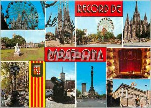 Postcard Modern Barcelona Various espects