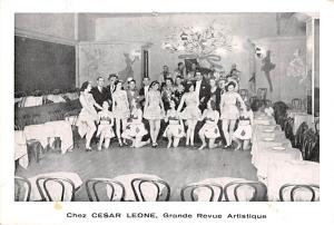 Circus Post Card, Old Vintage Antique Postcard Chez Cesar Leone Grand Revue A...