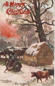Harry Payne. The Farmyard Tuck Oilette Glorious Winter Ser. PC # 9569