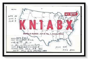 Maine, Union QSL Ham Radio - (MX-011)