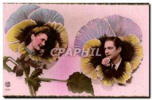 Old Postcard Fantaisie Flowers
