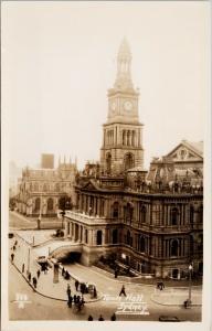 Town Hall Sydney Australia Unused Real Photo Postcard E57