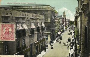 mexico, MEXICO, Avenida de San Francisco (1923) Postcard