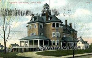 highland Club House Lowell MA 1909