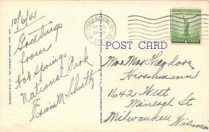 Hot Springs National Park Arkansas~First Lutheran Church~1941 Postcard