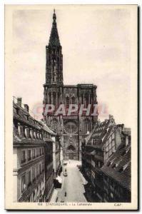 Postcard Old Strasbourg La Cathedrale