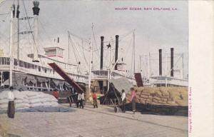 NEW ORLEANS, Louisiana, PU-1911; Wharf Scene