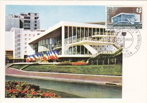 ROYAN, Charente Maritime, France, PU-1968; Le Palais Des Congres Et La Tour D...