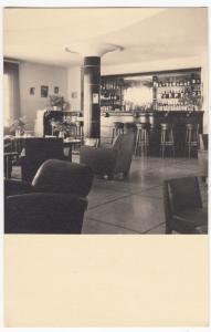 Social History; Unlocated Art Deco Bar Interior RP PPC Unused, c 30s, Plain Back