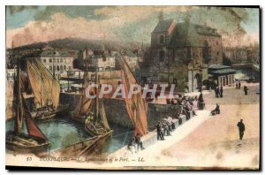 Postcard Old Honfleur Lieutenancy and the Port