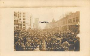 OKLAHOMA CITY, OKLAHOMA STREET CAR STRIKE IS ON!-1911 RPPC REAL PHOTO POSTCARD