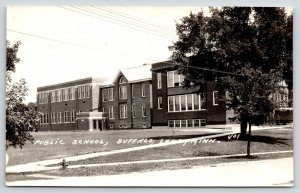 Buffalo Lake Minnesota~Public School~Boxy Front Entrance Doors~1940s RPPC