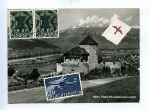 192777 LICHTENSTEIN Schloss Vaduz Vintage RPPC w/ many stamps