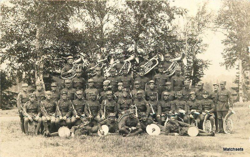C-1918 Military Band Brass Instruments CANADA RPPC postcard 8562