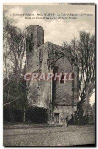 Old Postcard Suburbs d & # 39Avignon Montfavet La Tour d & # 39Espagne Remain...