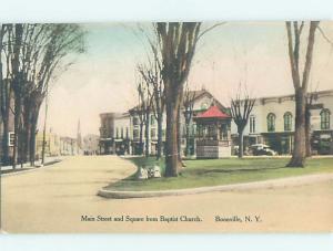 1950's MAIN STREET SCENE Boonville - Near Rome & Utica New York NY F1428
