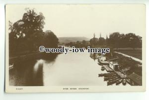 tp9213 - Worcs - Early View down the River Severn, at Stourport - Postcard