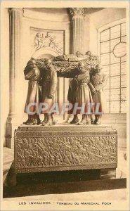 Old Postcard Les Invalides tomb of Marechal Foch Paris