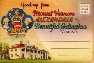 Folder -   Virginia,  Mt Vernon, Alexandria & Arlington  24 views + narrative