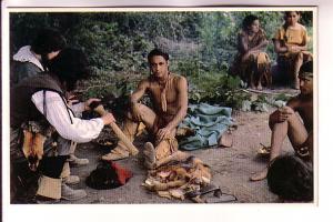 Wampanoag Settlement, Indians Trading Plimouth Plantation, Plymouth Massachus...