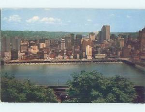 Pre-1980 PANORAMIC VIEW Pittsburgh Pennsylvania PA hp4477
