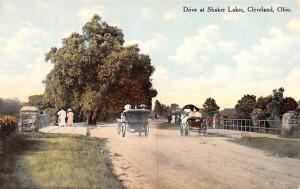 Shaker Postcards Old Vintage Antique Post Cards Drive at Shaker Lakes Unused