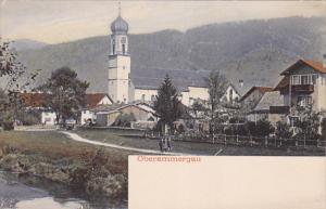 Panoramic View of OBERAMMERGAU, Bavaria, Germany, 00-10's