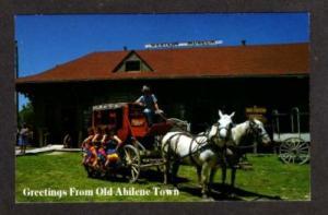 KS  Old ABILENE Town Museum KANSAS Stagecoach Postcard