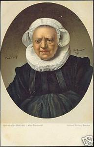 Dutch Painter REMBRANDT van Rijn, Portrait Old Lady 10s