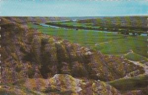 Canada Badlands Along Red Deer River Drumheller Valley Alberta