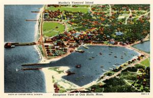 MA - Martha's Vineyard Island. Oak Bluffs. Aeroplane View
