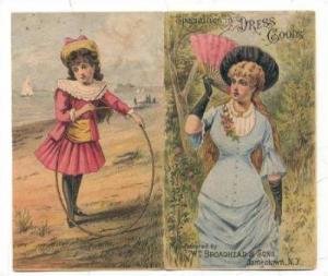 TC: Victorian woman & girl bifold  Specialties in Dress Goods, Jamestown, New...