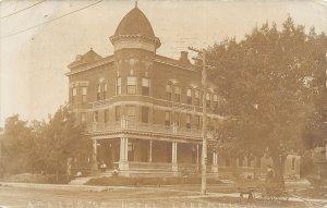F99/ Lake Mills Iowa RPPC Postcard 1907 Arlington Hotel Building