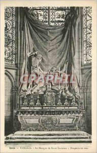 Old Postcard Sens Cathedrale The Martyrdom of Saint Savinien Drapery in stue