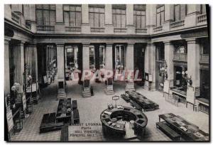 Old Postcard Bank Credit Lyonnais Paris Main Hall