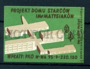 500793 POLAND Matysiakow Vintage match label