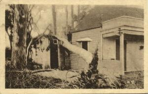 mauritius maurice, Damaged House after the Hurricane of March 1931 Postcard