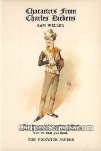 Reproductions - Characters from Charles Dickens Sam Weller, Pickwick Papers U...