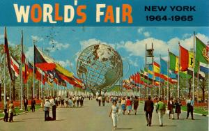 NY - New York World's Fair 1964-65. Unisphere and Court of Nations